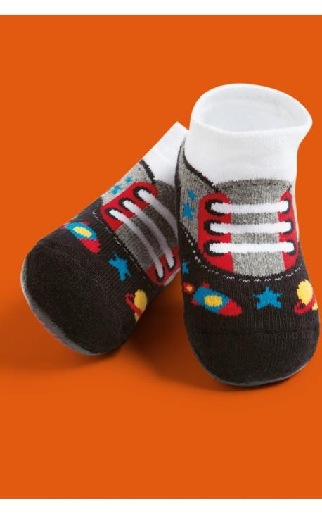 Calcetines con suela antideslizante para bebés - estampado deportivas