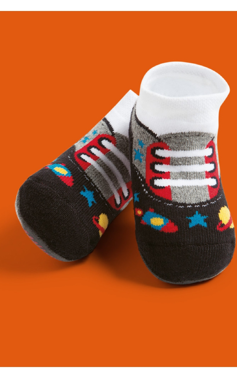 Socks With Non Slip Sole For Babies Sport Shoes Print