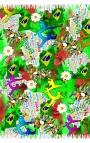 Pañuelo multiusos estampado en varios colores con motivos capoeira 2