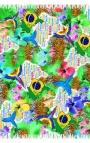 Pañuelo grande en varios colores con motivos de naturaleza