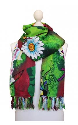 Pañuelo multiusos estampado en varios colores con motivos capoeira 1