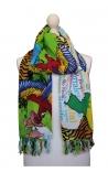 Pañuelo multiusos estampado en varios colores con motivos de la naturaleza 2