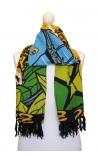 Pañuelo estampado estilo bandera brasileña 2