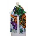 Pañuelo pareo en varios colores con motivos de Brasil animal print