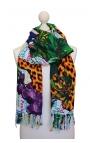 Pañuelo pareo en varios colores con motivos de Brasil animal print 1
