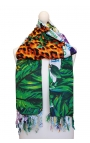 Beach Scarf - colours, animal print, Brazilian motifs