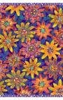 Pañuelo azul de flores de Maracuyá