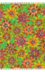 Fular verde estampado con flores de Maracuyá
