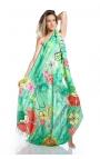 Foulard verde - estampado con motivos florales