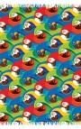 Foulard multicolor con estampa de guacamayos