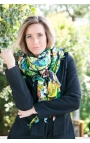 Colourful Shawl printed with toucans