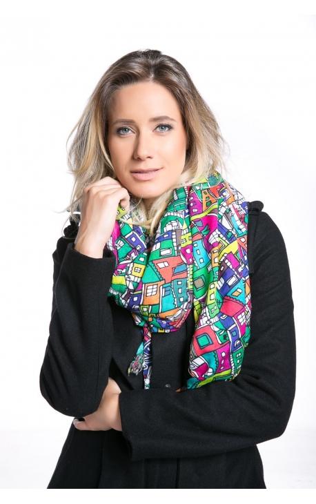 Original multipurpose printed scarf Favelinha