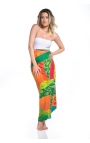 Fular de mujer con estampado tropical multicolor