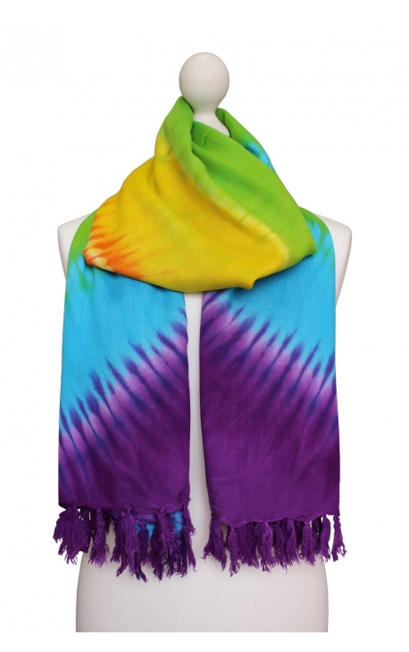 Printed Colourful Shawl - Rainbow