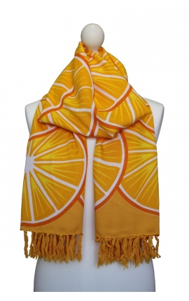 Orange multipurpose scarf