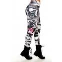Mallas fitness mujer Rock Code - Tiger Black White