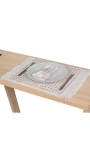 Beige handcrafted individual tablecloths