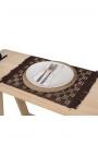 Manteles individuales artesanales de palitos de coco en color marrón