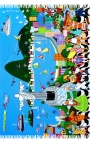 Pañuelo de cuello con dibujos animados - Río Cartoon