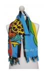 Pañuelo vestido estampado con dibujos animados - Pantano Cartoon