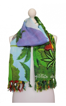 Multipurpose Printed Kerchief - Botanical Garden