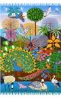 Fular multiusos estampado con dibujos animados - Selva Cartoon