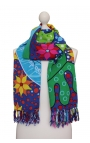 Foulard naif - Pájaros Tropicales Cartoon