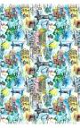 Pañuelo de colores estilo acuarela con motivos de Río de Janeiro