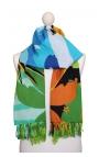 Pañuelo estampado multiusos con motivos de Río de Janeiro