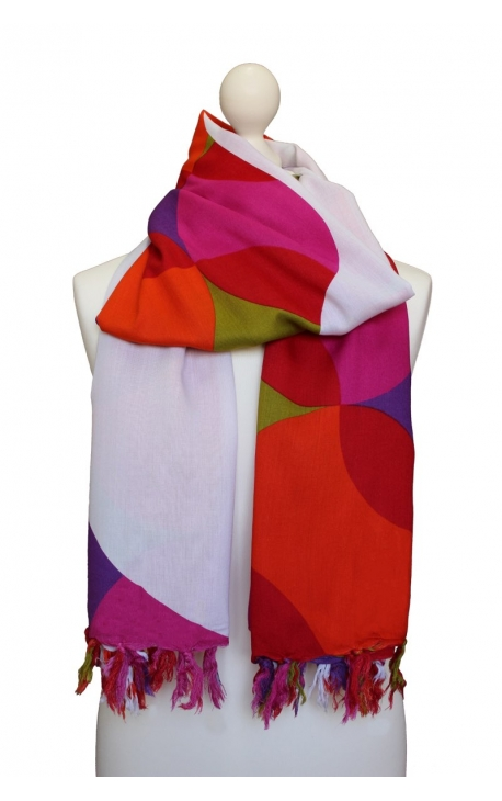 Kerchief - geometric figures, kaleidoscopic style