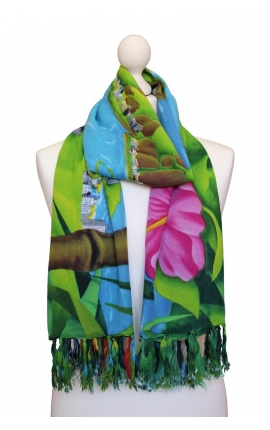 Printed Beach Scarf - cartoon motifs inspired by the wonderful city