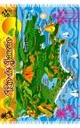Pareo para hombre - mapa de Río