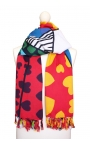 Pañuelo exclusivo con estampado vidriera carioca de colores