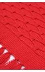 Manteles individuales artesanales en algodón orgánico color rojo