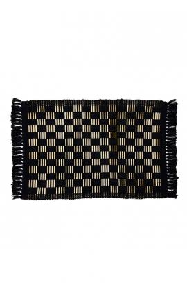 Manteles individuales artesanales de palitos de coco en color negro2