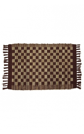Brown placemats handmade of coconut sticks