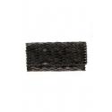 Bolso clutch de madera hecho a mano - Color negro