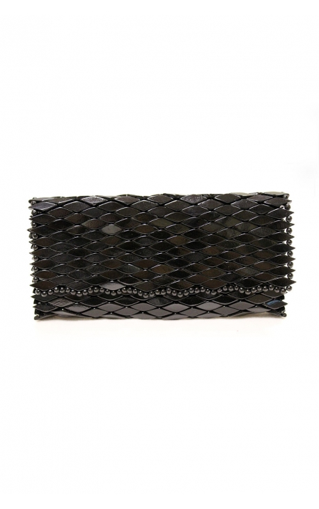 Handmade wooden clutch bag - Black