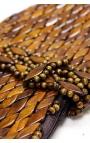Bolso de mano artesanal de madera - Color marrón
