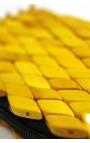 Bolso cartera artesanal de madera - Color amarillo
