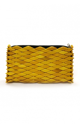 Craft wooden handbag - Yellow