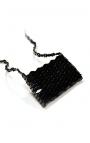 Mini bolso de madera estilo bandolera hecho a mano - Color negro