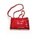 Bolso pequeño hecho a mano con madera - Color rojo
