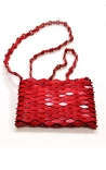 Handmade wooden evening bag - Red