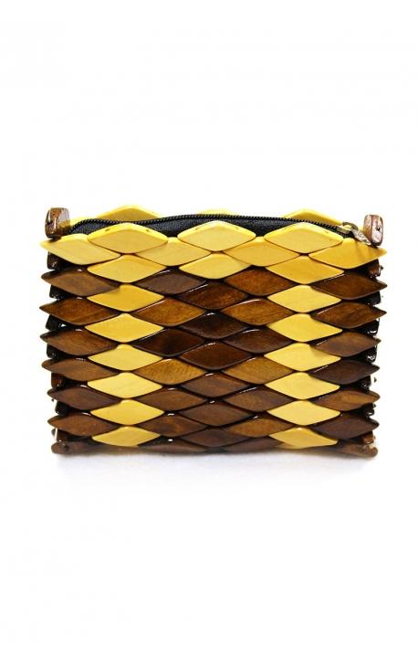 Monedero cartera artesanal de madera - Colores variados