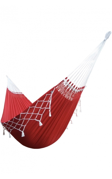 Hammock - Two-person Red/Green Brazilian Hammock