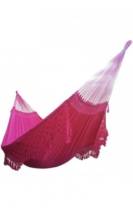 Garden hammock - Two-person Pink Brazilian Hammock