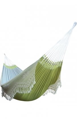 Medium image of garden hammock   two person smooth green brazilian hammock