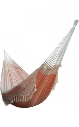 Outdoor hammock - Two-person Smooth Orange Brazilian Hammock