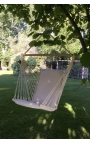 Garden Hanging Chair - Natural Brazilian Backed Hanging Chair